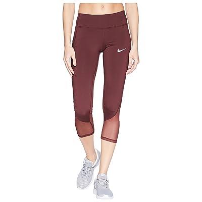 Nike Power Racer Cool Crop Pants (Burgundy Crush) Women