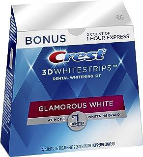 Best Crest 3D Whitestrips Glamorous White, Teeth Whitening Kit, 16 Treatments (32 Individual Strips) + 2 Bonus 1-Hour Express Treatments Review