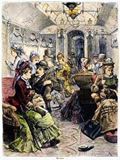 Pullman Car 1876 Ninterior Of A Pullman Parlor Car On The Pennsylvania Railroad Between New York And Philadelphia Wood Eng...