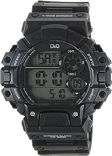 Q&Q Men's Grey Dial Silicone Band Watch - M144J001Y