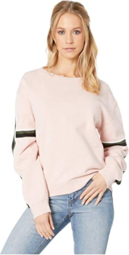 Backtrack Sport Stripe Fleece Sweatshirt