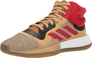 adidas Men's Marquee Boost Basketball Raw Sand/Gold Metallic/Scarlet