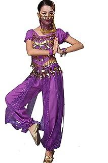Lady Belly Dancer Costume Halloweem Performance Wear All Sets