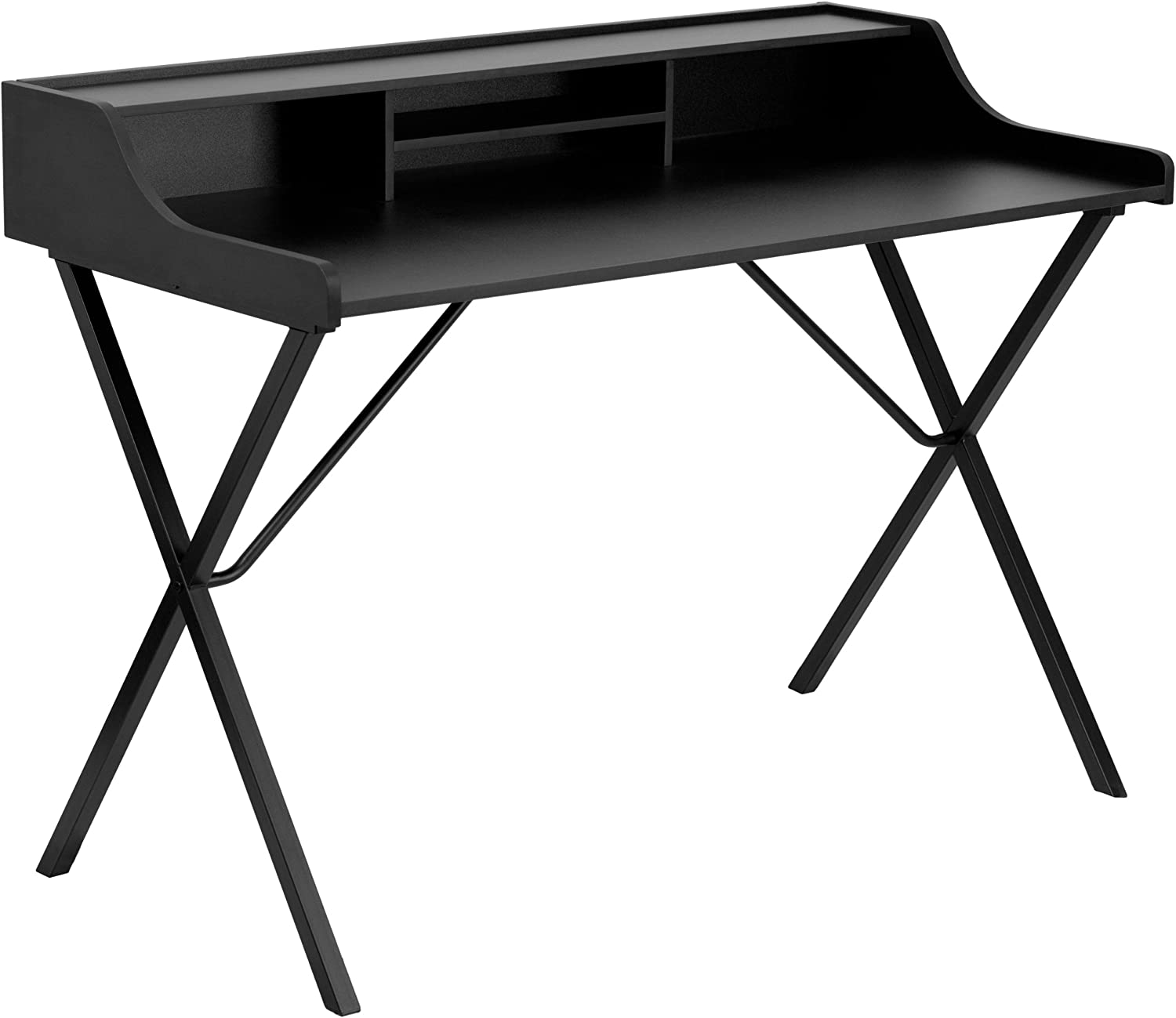 Flash Furniture NAN-2124-GG Computer Desk with Top Shelf, Black