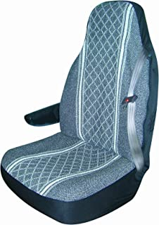 Allison 67-1920GRY Gray Diamond Back Large Bucket Seat Cover - Pack of 2