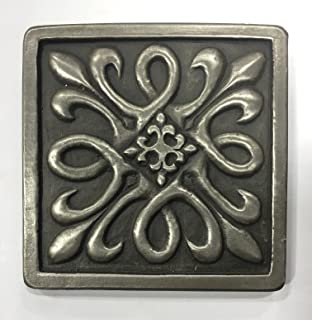 Silver Metallic Nickel 4x4 Resin Decorative Insert Accent Piece Tile