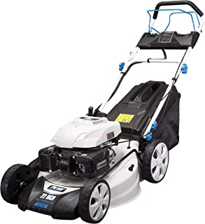 """Pulsar 21"""" Self-Propelled Gasoline Powered 7 Position Height Adjustment, PTG1221SE Lawn Mower, White"""