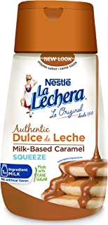 La Lechera Dulce de Leche Squeeze – Milk-Based Caramel in a Resealable, No-Spill Bottle, Add Rich, Creamy Texture to Sweet Dishes with Authentic Dulce de Leche