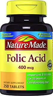 Nature Made Folic Acid, 250 ct