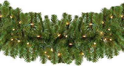 Sequoia Fir Commercial-Grade Traditional Christmas Wreath and Matching Christmas Garland Greenery (14