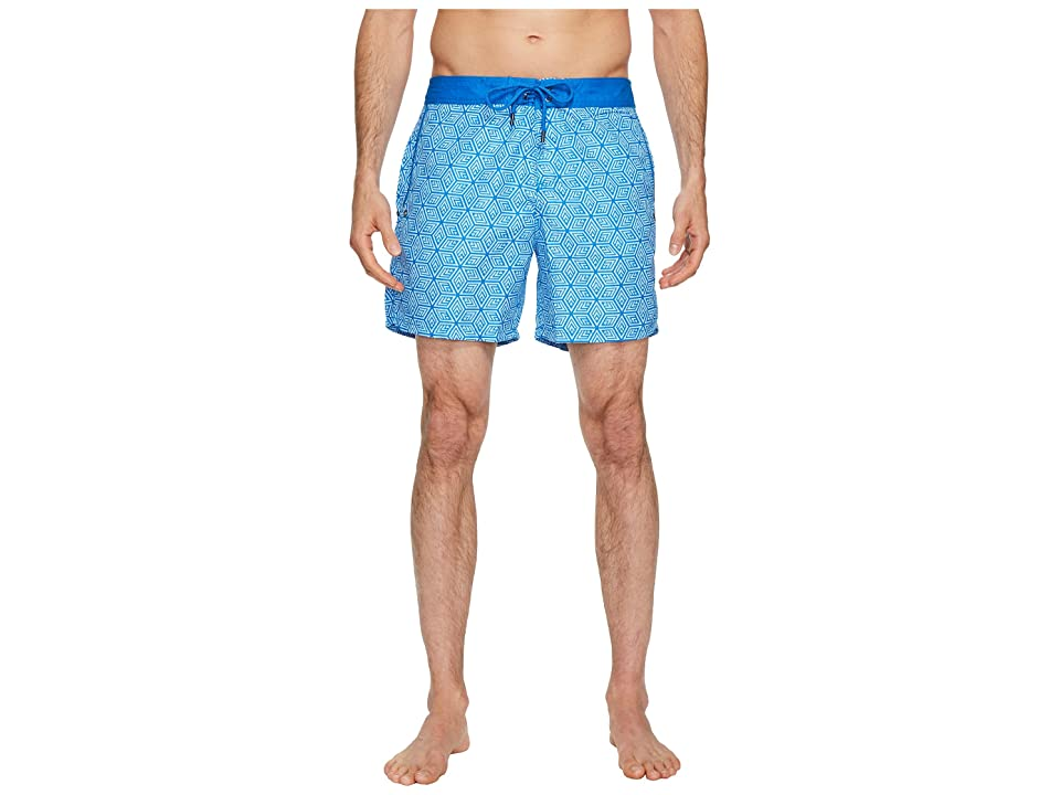 Mr. Swim Cubed Chuck Swim Trunks (Blue) Men