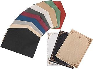 [スプレンノ] アンティーク レターセット 封筒 10色10枚 便箋3色×8種類 24枚 (10色)