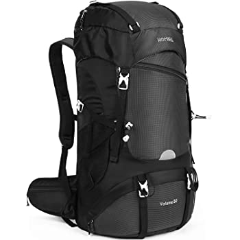 Multi-functional Hang System Trekking Backpack Outdoor Mountaineering Camping Backpack HOMIEE Hiking Backpack 45L Capacity Excellent Carrying System Lightweight Trekking Rucksack