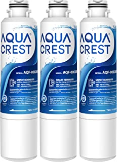 AQUACREST DA29-00020B Refrigerator Water Filter, Compatible with Samsung DA29-00020A/B, HAF-CIN/EXP, Kenmore 46-9101, DA97-08006A, RF4287HARS, Pack of 3 (package may vary)
