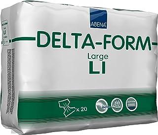 Abena Delta Form Adult Incontinence Brief, L1, 20 Count