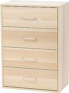 Marque Amazon - Movian 531495 Petite commode/Chiffonnier 4 tiroirs en bois MDF, Engineered Wood, Chêne Clair, CCT-9060