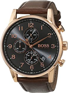 Hugo Boss Men 1513496 Year-Round Chronograph Quartz Brown Watch