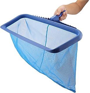 Swimming Pool Leaf Skimmer Net Lightweight Deep Bag Leaf Cleaning Tool Leaf Rake Swimming Pool Clean Maintenance for Lands...