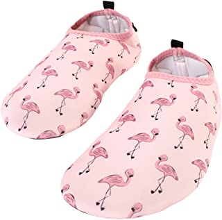 Hudson Baby Unisex-Child Water Shoes for Sports, Yoga, Beach and Outdoors, Kids and -Adult Flamingo, 3-4 Kids