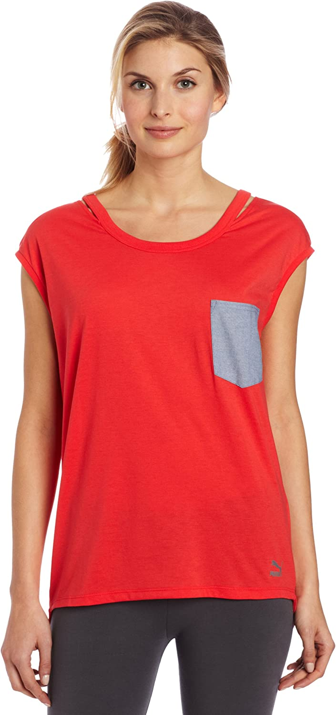 PUMA Women's Cut Out Pocket T-Shirt