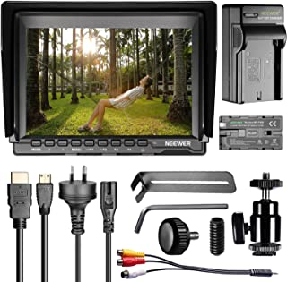 Neewer NW759 7-inch 1280x800 IPS Screen Camera Field Monitor Kit: 16:10 or 4:3 Adjustable Display Ratio, with 2600mAh Rech...