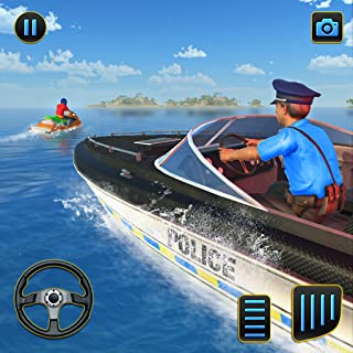 Police Speed Boat Gangster Chase Simulator