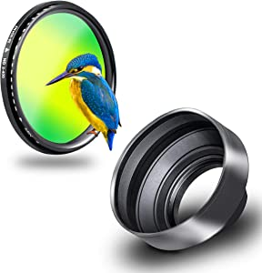 Phot-R 55mm Professional Slim Variable Density ND2-ND400 Lens Filter U...