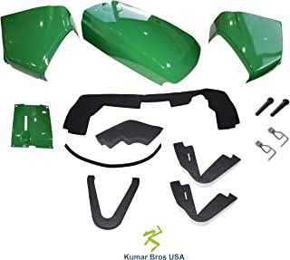 New Kumar Bros USA Upper Hood/Fuel Door with Hardware/Mounting Seal Kit/LH RH Cowls with Cover Fits John Deere 4500 4600 4700
