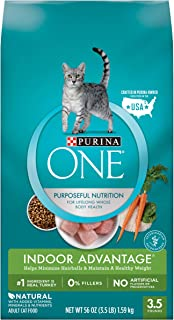 PURINA ONE Indoor Advantage Dry Cat Food, Turkey, 1.59kg