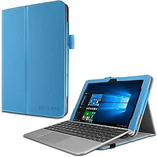TransBook T102HA ケース Infiland ASUS ベーシック2in1ノートブック TransBook T102HA スタンドカバー 薄型 軽量型 内包型 PUレザーケース (ASUS T102HA, ブルー)