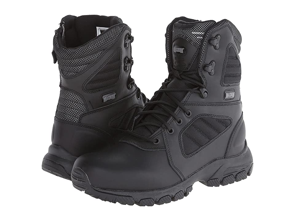 Magnum Response III 8.0 Side Zip (Black) Men's Work Boots