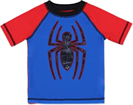 boys spiderman rash guard