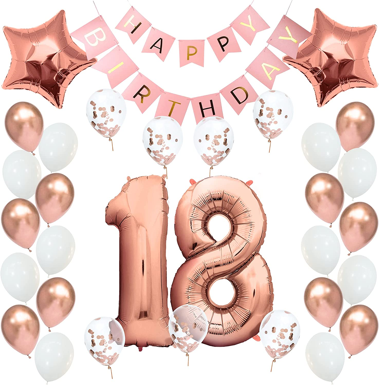 Geburtstagsdeko 8 Rosegold Geburtstag Deko 8. Geburtstag Mädchen ...