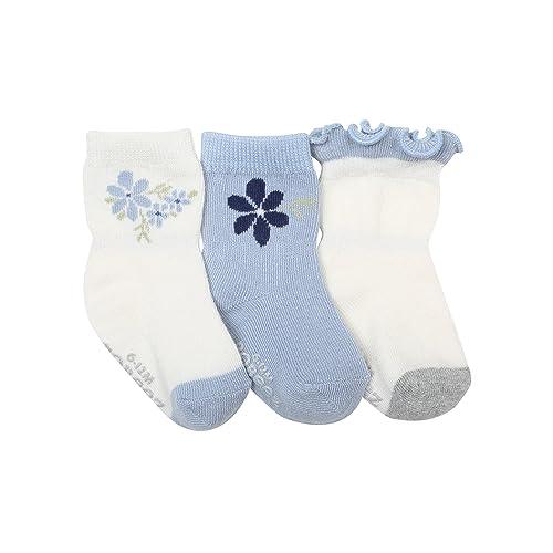 Robeez Baby Girls 3-Pack Socks