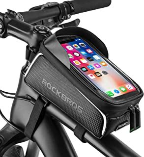 Bike Phone Front Frame Bag Bicycle Bag Waterproof Bike...