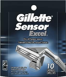Gillette Sensor Excel Men's Razor Blade Refills, 10 Count