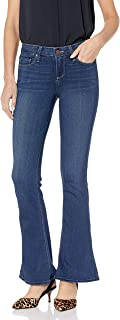 PAIGE Women's Petite Lou Mid Rise Flare Leg Jean