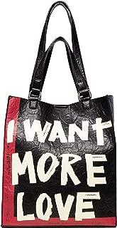 Luxury Fashion   Desigual Womens 19WAXP07BLACK Black Handbag   Fall Winter 19