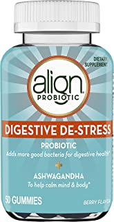 Align Digestive DE-Stress Probiotic + Herbal Ashwagandha Health Supplement, 50 Gummies, Berry Flavor