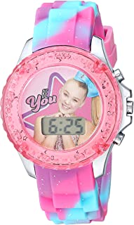 Nickelodeon Girls' Quartz Watch with Plastic Strap, Pink, 16.3 (Model: JOJ4006)