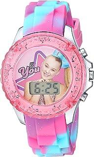 ساعة نيكلوديون للبنات كوارتز مع حزام بلاستيكي، زهري، 16.3 موديل (JOJ4006)