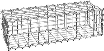 TecTake Muro de contención de piedra - Gavión | Dimensiones de luz de malla 5 x 10 cm | varias tamaños (100x30x30 cm | No. 402779)