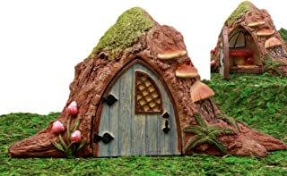 Atlantic Collectibles Enchanted Fairy Garden Miniature Rustic Tree House With Hinged Door & Toadstool Table Figurine Do It Yourself Ideas For Your Home