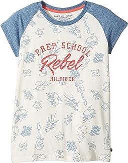 Tommy Hilfiger Kids - Prep School Rebel Tee (Big Kids)