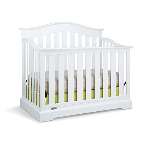Graco Westbrook 4-in-1 Convertible Crib, White, Easily Converts to Toddler Bed Day Bed or Full Bed, Three Position Adjustable Height Mattress (Mattress Not Included)