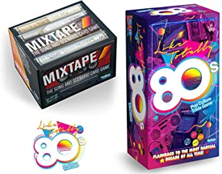 Like Flashback! Retro Song Card Game 80's Trivia Rewind Pop Culture Bundled with + Mixtape Music Throwback Pack 2 Items