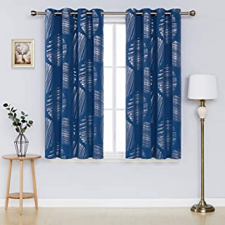 Deconovo Blackout Curtains Decorative Circle Silver...