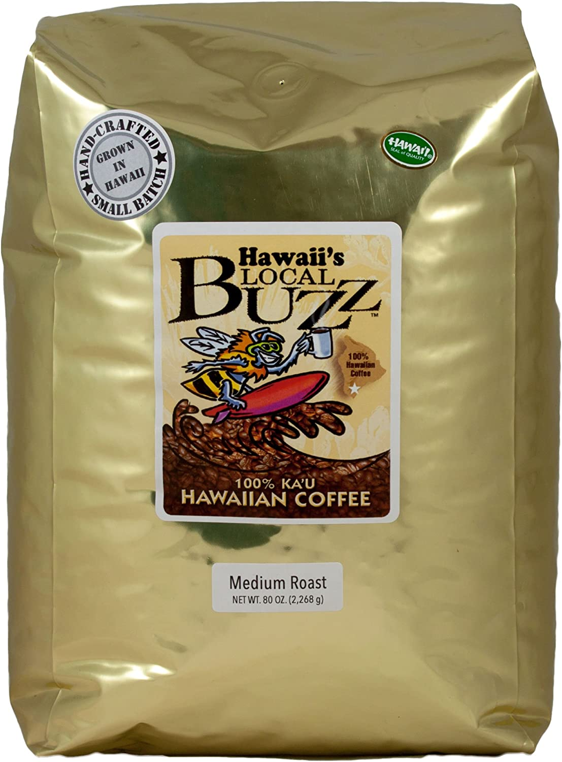 Hawaii's Local Buzz Ground Coffee, Medium Roast, 80 Ounce