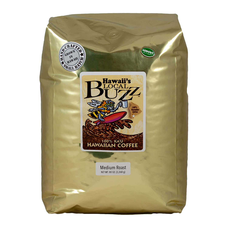 Hawaii's Local Buzz Whole Bean Roast Max 89% OFF 80 Coffee Ounce Medium Max 60% OFF