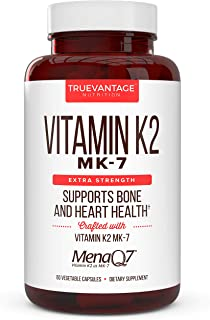 Vitamin k2 MK-7 Supplement 180mcg -Vitamin K2 Supports Bone & Heart Health for Cardiovascular Calcium Absorption from Arte...